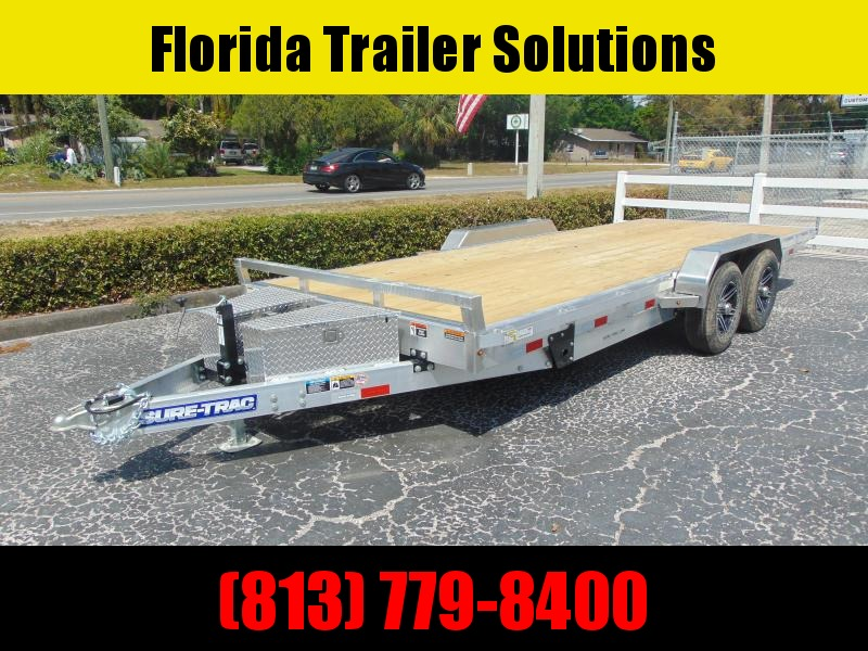 New Sure-Trac 82x20 Aluminum 10k Electric Tilt Car Hauler