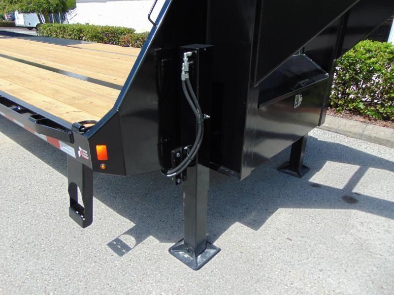NEW 2021 Sure-Trac 8.5X20+10 Gooseneck 25.9K Low Pro Hydraulic Beavertail Equipment Trailer