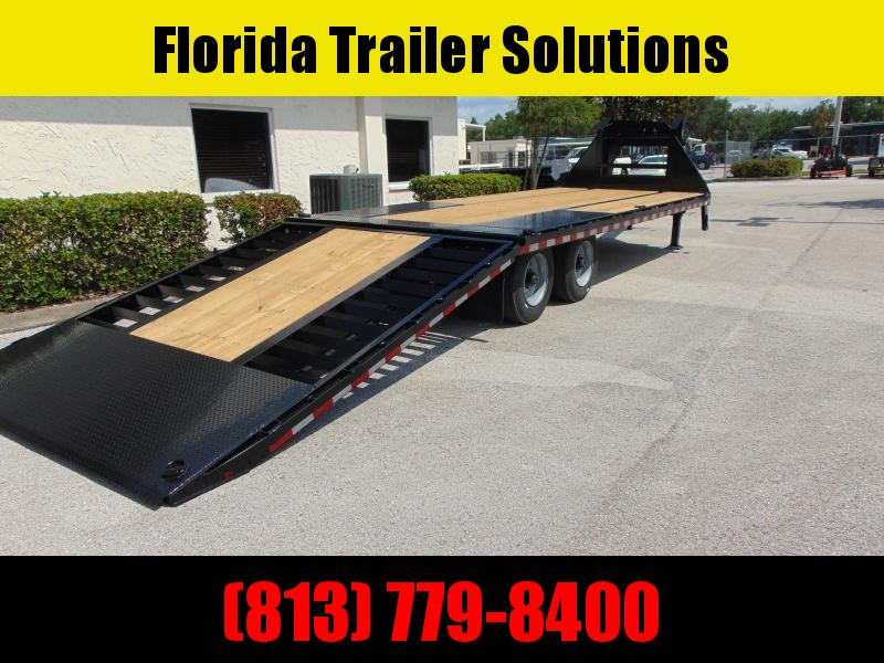 NEW 2021 Sure-Trac 8.5X20+10 Gooseneck 25.9K Low Pro Hydraulic Beavertail Equipment Trailer