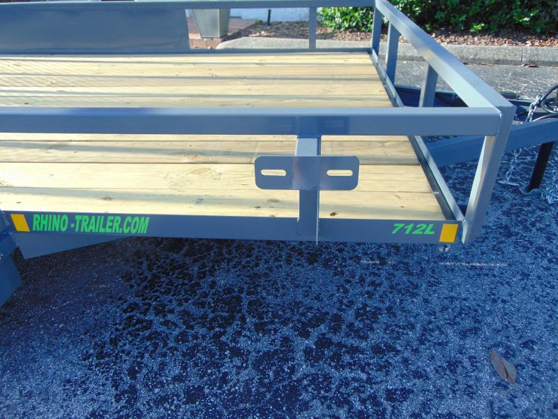 New Rhino Trailers 7X12TA Tube Top Utility Trailer