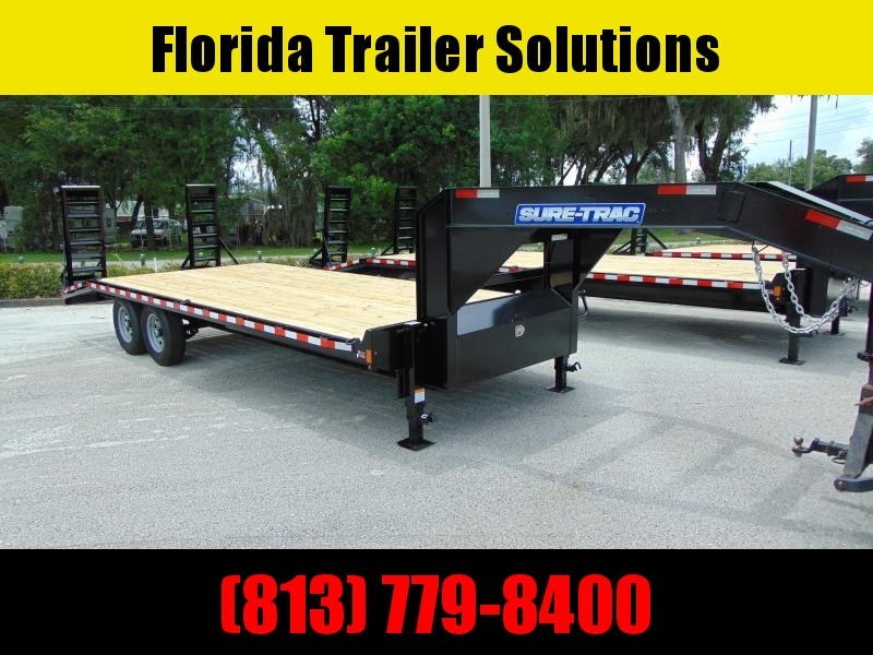 New Sure-Trac 8.5X20+4 Deckover 15k Gooseneck Equipment Trailer