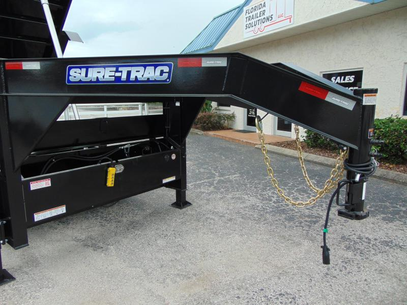 2021 Sure-Trac 82X16 HD 21K Gooseneck Tri-Axle Dump Trailer w/4' Sides & Hydraulic Jacks