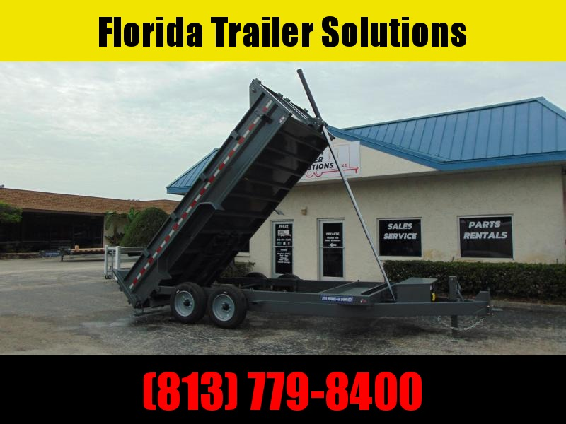 New Sure-Trac 82X16 16K Telescopic Dump Trailer