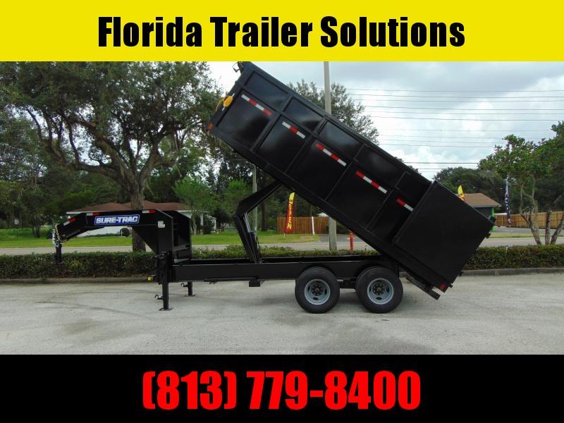 2021 Sure-Trac 8X18 HD Tandem Dual Gooseneck Dump Trailer