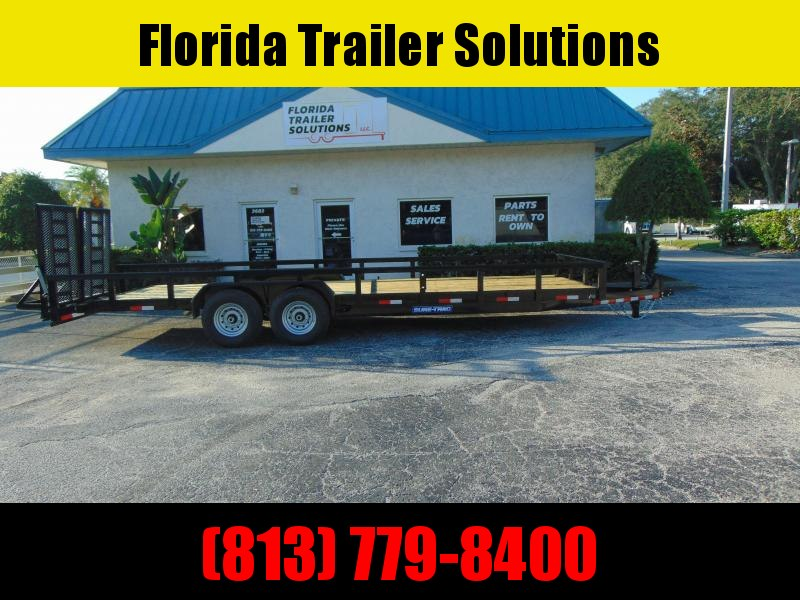 New Sure-Trac 7X24 (22+2) Heavy Duty 14k Equipment Trailer