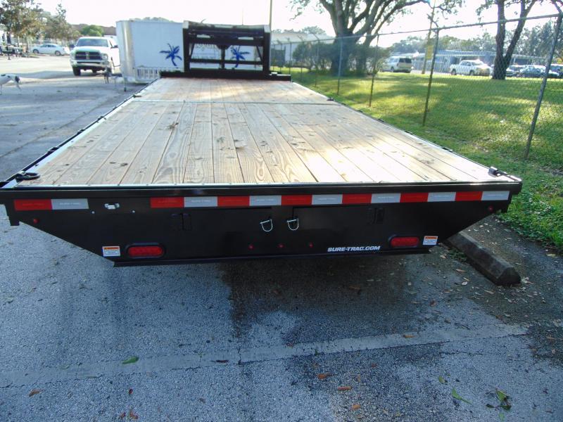 New Sure-Trac 8.5X22 Flat Deck Standard Duty 15k Gooseneck Equipment Trailer