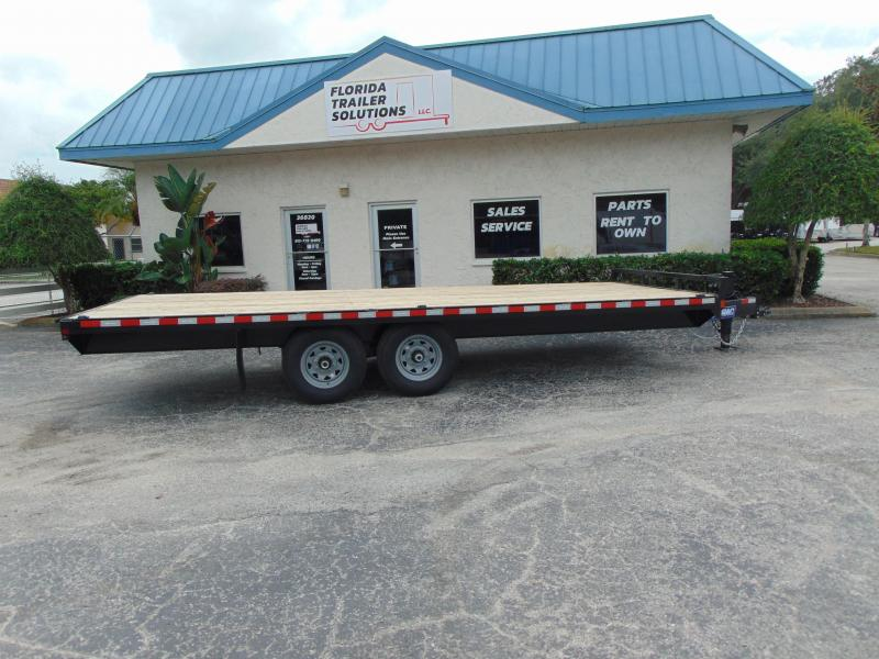 New Sure-Trac 8.5X20 15k Flat Deck Deckover Equipment Trailer