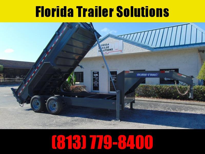 New Sure-Trac 82X16 20k Gooseneck Dump Trailer