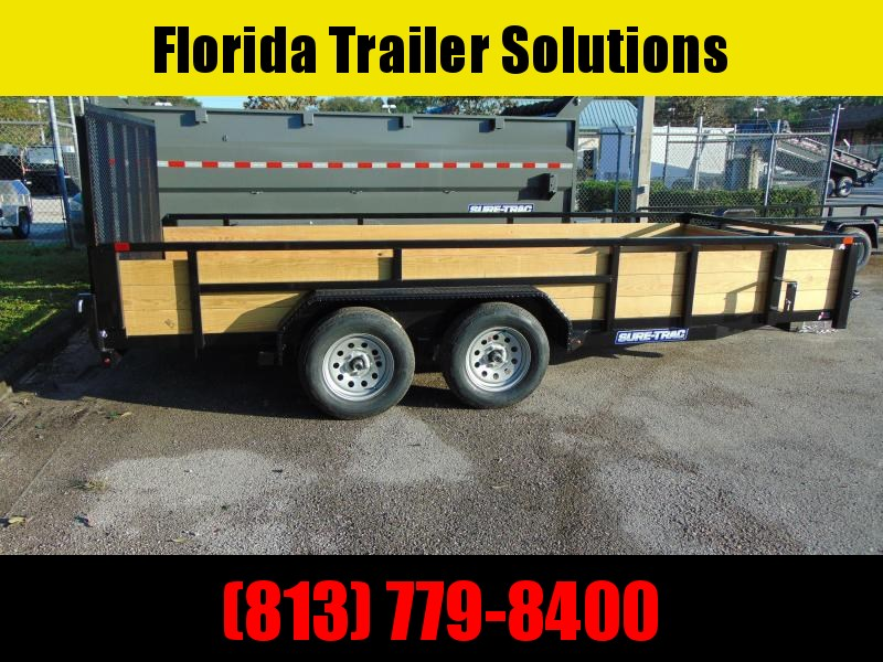 New Sure-Trac 7X16 Tube Top 7k Utility Trailer w/ 3 Board Sides