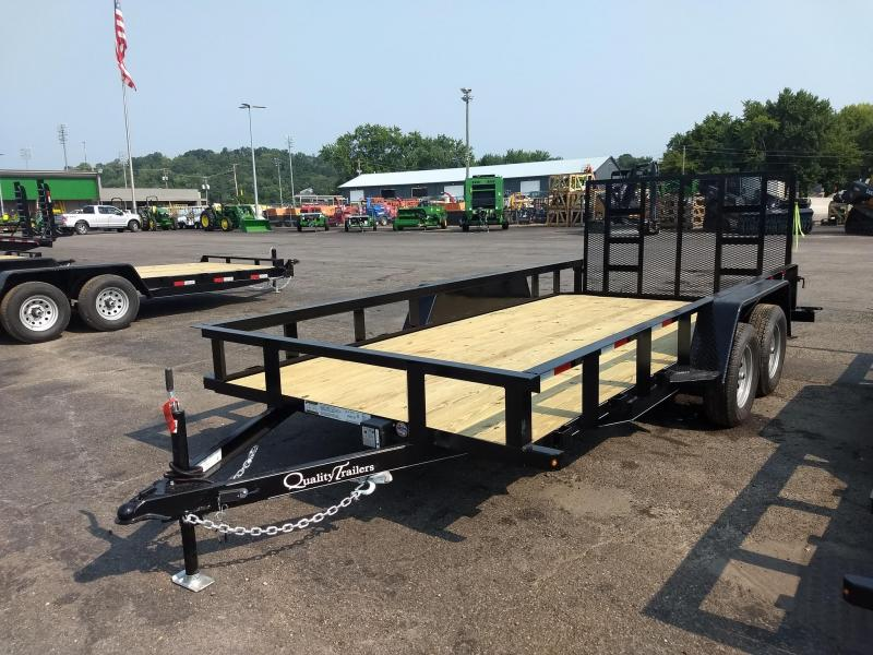 """2022 Quality Trailers 82"""" x 16' (14' + 2' Dove Tail) General Duty Utility Trailer 7K Utility Trailer"""