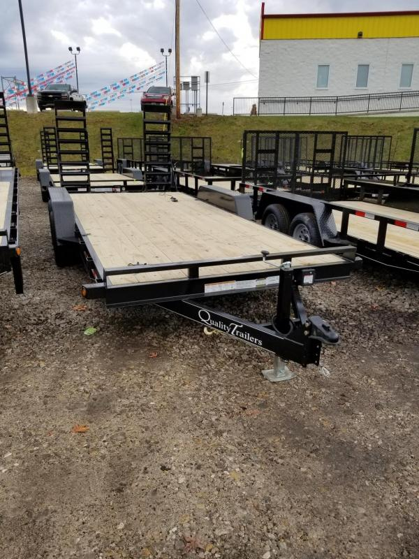2021 Quality Trailers 18ft GEN-DW GEN DUTY EQUIPMENT TRAILER - WOOD Equipment Trailer