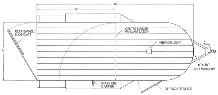 """2022 Valley Trailers 16' x 6' x 6'6"""" Stock Specialty (26016) Livestock Trailer"""