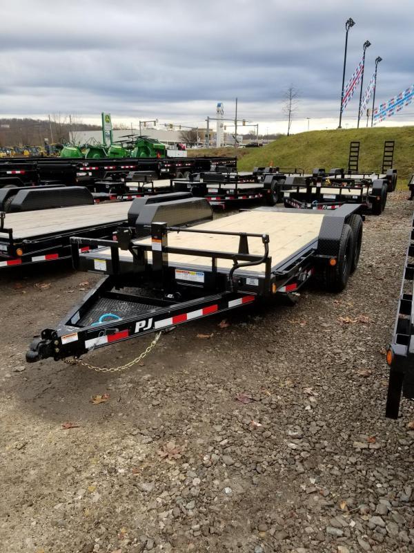 2021 PJ Trailers T1672 16'X6 CHANNEL EQUIPMENT TILT TRAILER Equipment Trailer