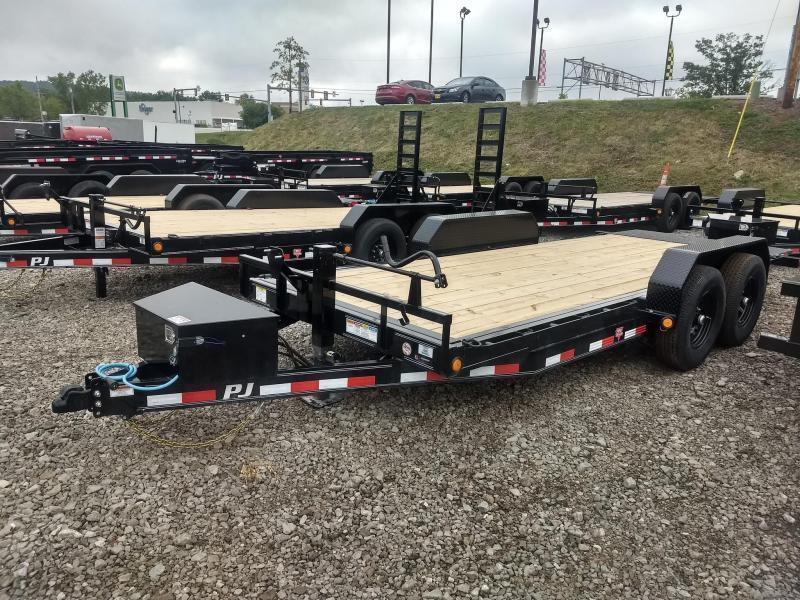 2021 PJ Trailers 18FT Powered Full Tilt (TF) Equipment Trailer
