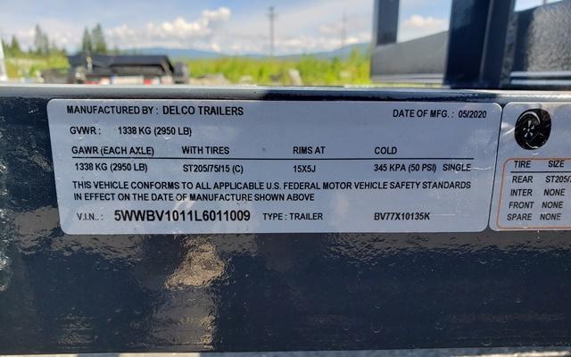 2020 X-On SA771013 Utility Trailer