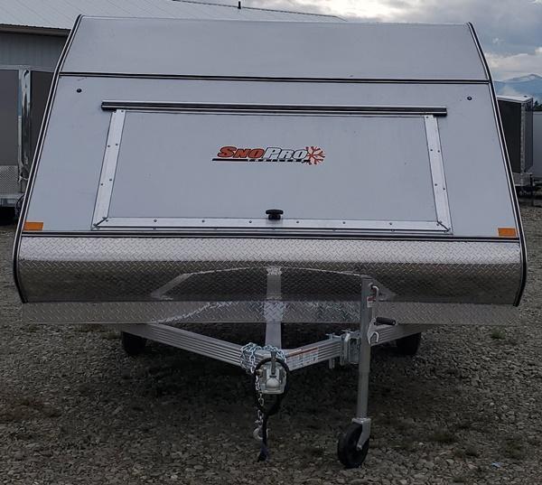 2021 Snopro HYB101X12 HYBRID Snowmobile Trailer
