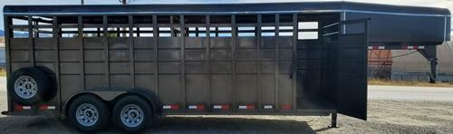 "2020 S&S Manufacturing GN Livestock 6""8""x7x22 Livestock Trailer"