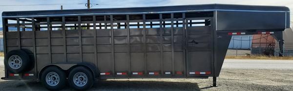 "2020 S&S Manufacturing GN Livestock 6""8""x7x22 Livestock Trailer"