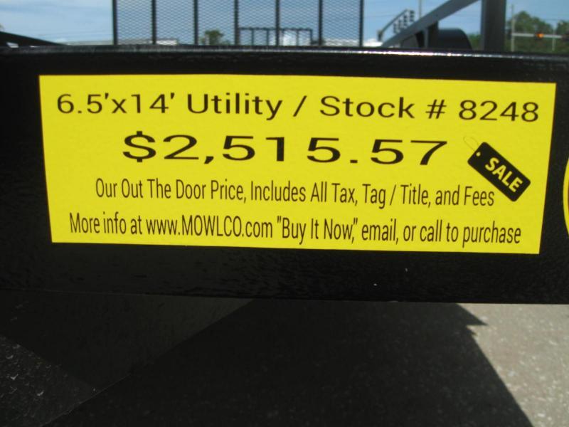 """6.5x14 Landscape Utility + LEDs $2515.57 """"Out The Door"""""""