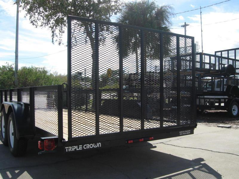 """6.5x16 Utility 2' MESH SIDES + BRAKES + LEDs """"$3375.32 Out The Door"""""""