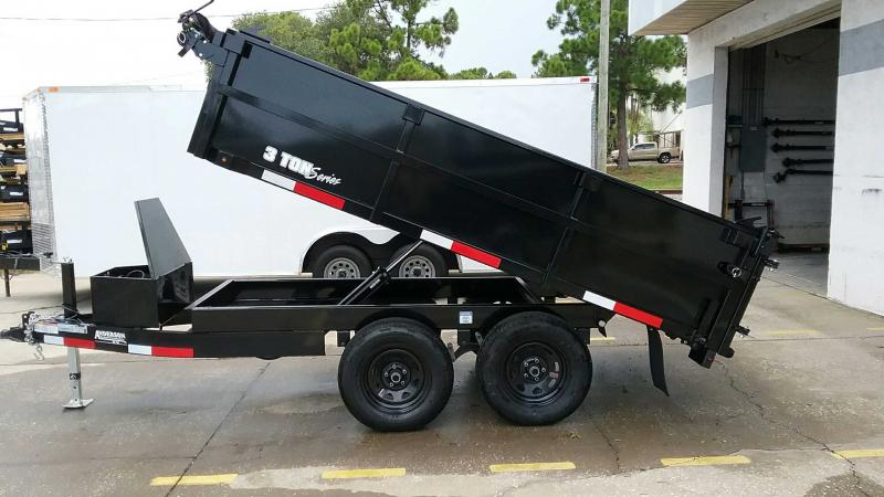 "7x10 Dump Trailer 7K / 3.5 Ton $6098.36 ""Out The Door"""