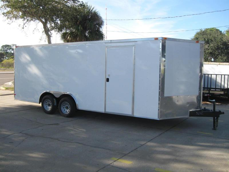 "8.5x20 V-Nose Enclosed Cargo ""Out The Door"""