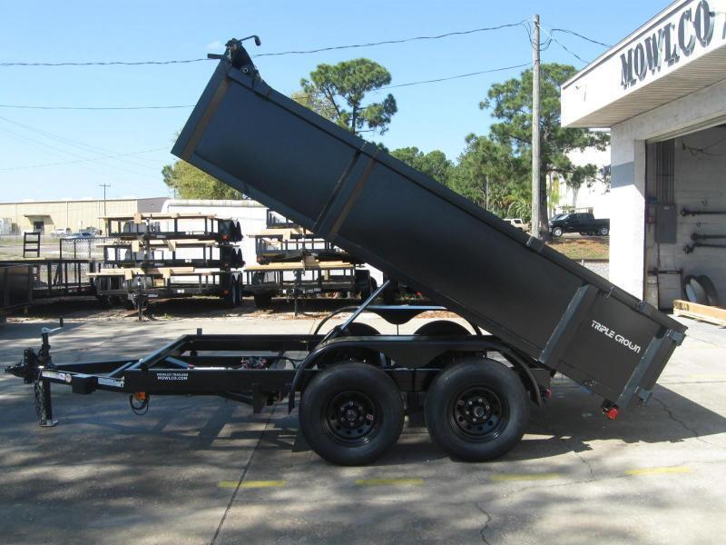 "6x12 Dump 10K / 5 Ton + TARP $6893.36 ""Out The Door"" with Free Spare Tire"