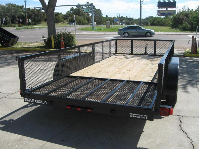 """6.5x16 Utility 2' MESH SIDES + BRAKES / LEDs $3982.09 """"Out The Door"""""""