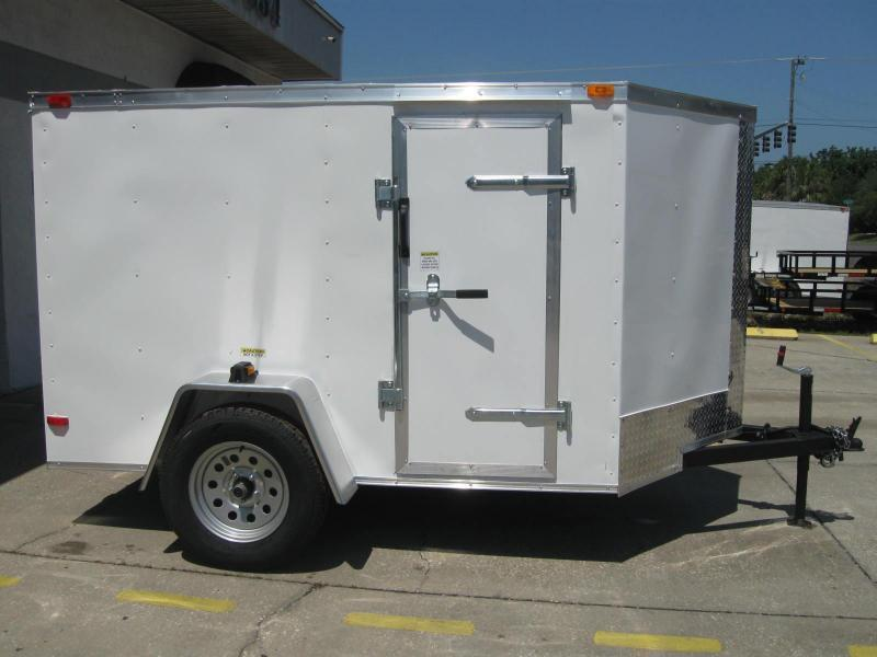 "5x8 V-Nose Enclosed Cargo Trailer ""Out The Door"""