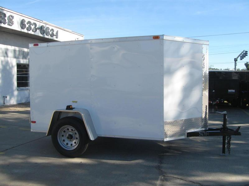"5x8 V-Nose Enclosed Cargo ""Out The Door"""