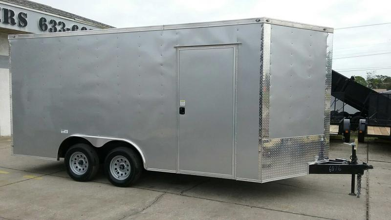"8.5x16 V-Nose Cargo 7' Tall $5725.77 ""Out The Door"""