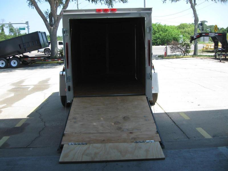 "5x8 V-Nose Enclosed Cargo Trailer ""$2462.07 Out The Door"""
