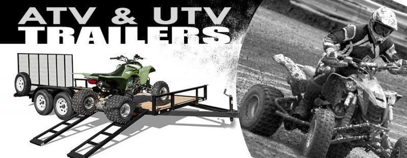 "7x16 ATV Trailer + BRAKES $3998.14 ""Out The Door"""