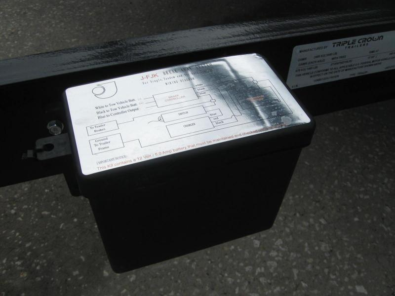 6.5x12 Tandem Axle Utility Trailer + BRAKES + LEDs