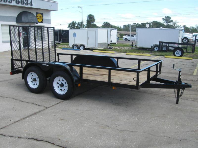 6.5x12 Tandem Axle Utility Trailer + BRAKES + LEDs