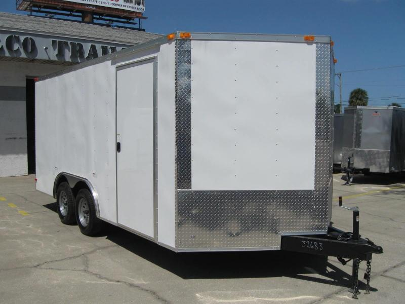 "8.5x16 V-Nose Enclosed Cargo Trailer ""Out The Door"""