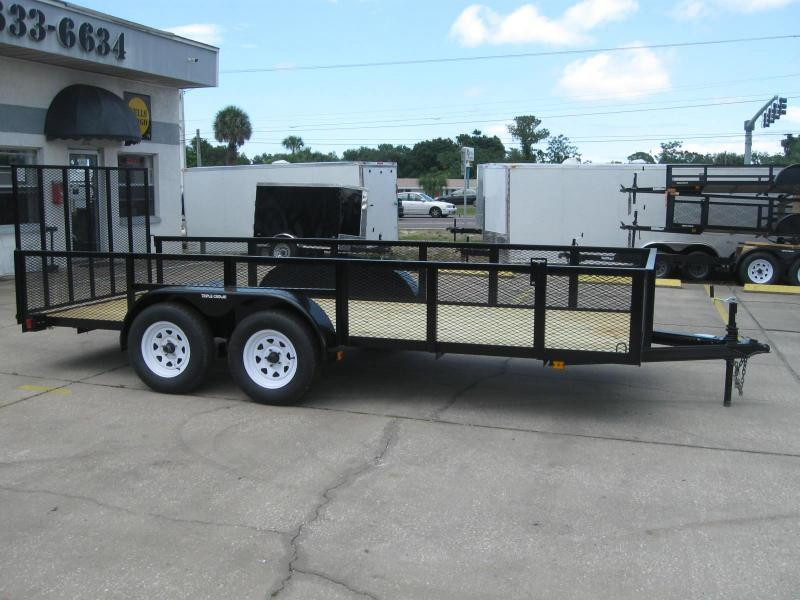 "6.5x16 Trailer 2' MESH SIDES + BRAKES + LEDs ""Out The Door"""