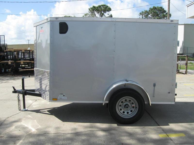 "5x8 V-Nose Cargo RAMP DOOR ""$2408.57 Out The Door"""