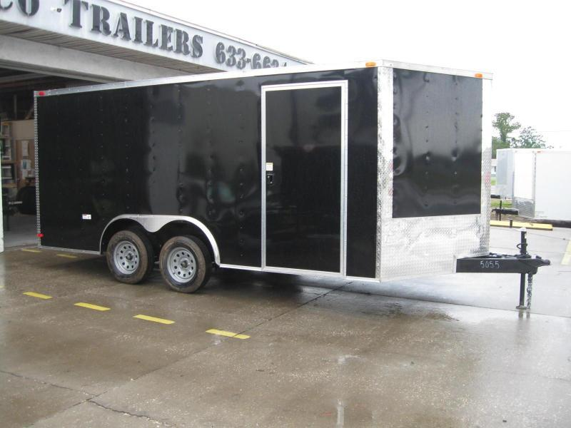 """8.5x16 V-Nose Enclosed Cargo """"Out The Door"""""""
