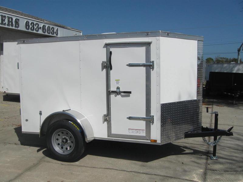 """5x8 Cargo SIDE DOOR $4299.34 """"Out The Door"""""""