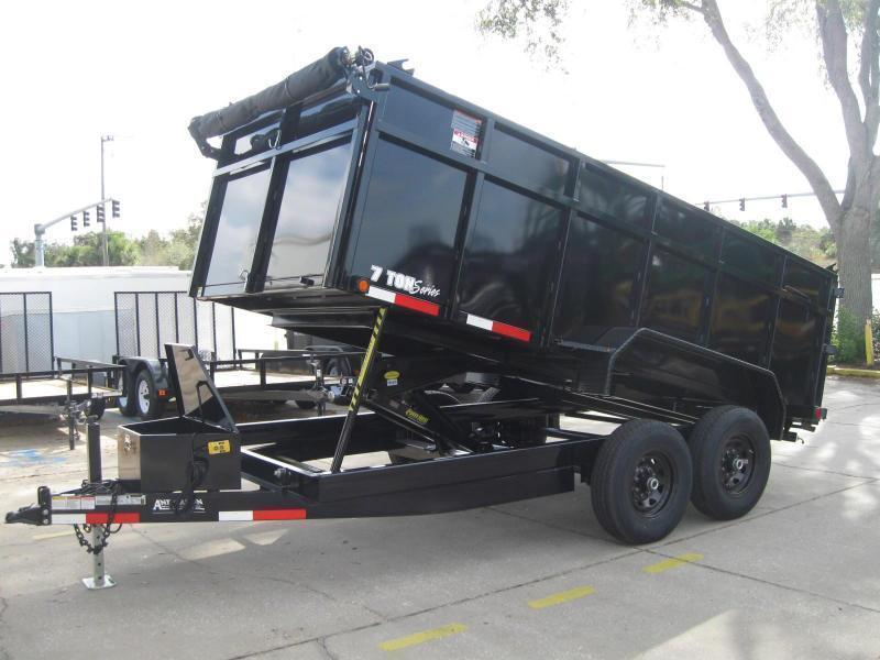"7x14 Dump 4' SIDES HD 14K / 7 Ton $10391.36 ""Out The Door"""