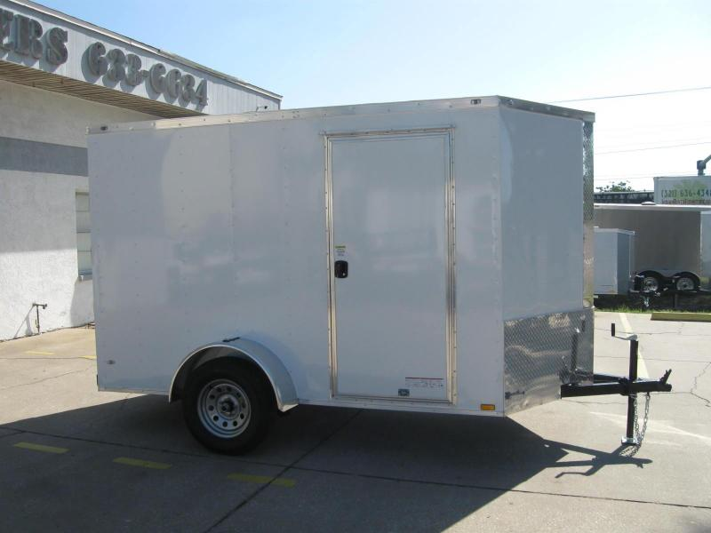 6x10 Trailer V-Nose Enclosed Cargo Trailer