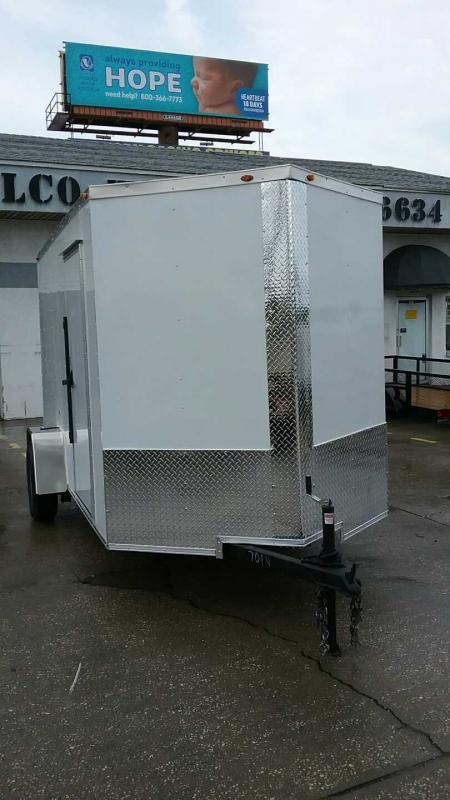 "6x12 V-Nose 6' 6"" TALL $4673.84 ""Out The Door"""