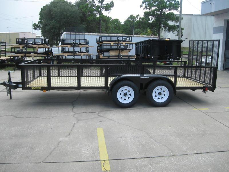 """6.5x16 Utility 2' MESH SIDES + BRAKES $3803.32 """"Out The Door"""""""