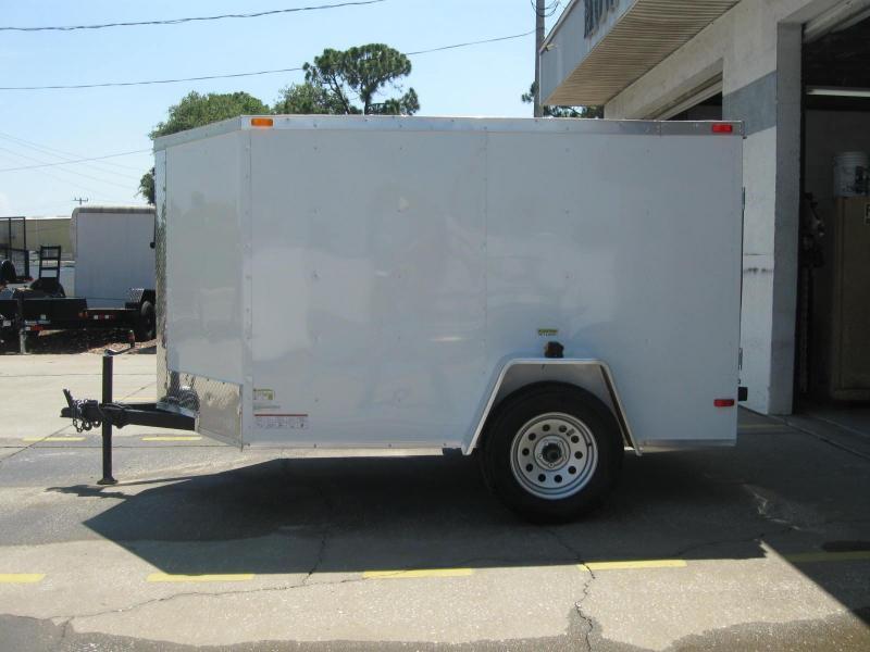 """5x8-V Ramp Door Side Vents $3599.56 """"Out The Door"""""""