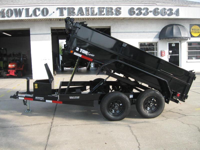 7x10 Dump Trailer 7K / 3.5 Ton GVWR with TARP
