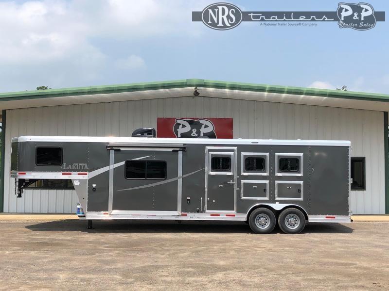 2021 Lakota AC8311 3 Horse Slant Load Trailer 11 FT LQ w/ Slideouts