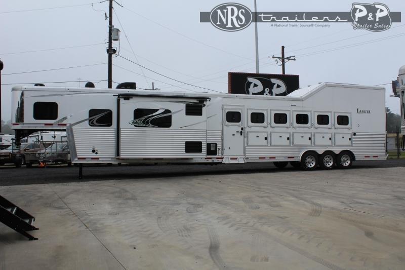2022 Lakota Bighorn BH8616SRTRSL 6 Horse Slant Load Trailer 16 FT LQ With Slides w/ Ramps