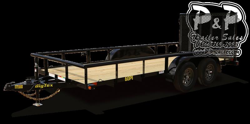 2021 Big Tex Trailers 60PI 12BK4RG 12 Utility Trailer