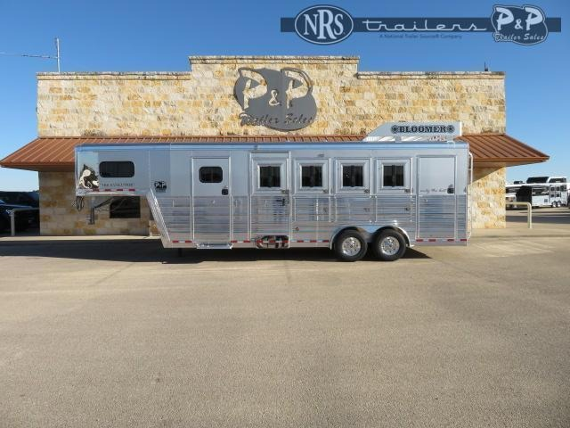 2021 Bloomer 764TRN Super Tack Trainer 4 Horse Slant Load Trailer